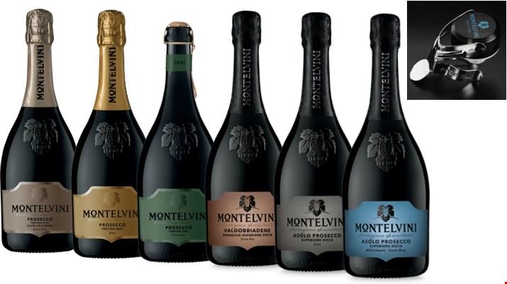 Montelvini 6 x Prosecco DOC & DOCG + Prosecco Stopper