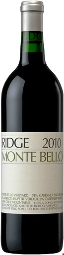 Ridge Vineyards Monte Bello 2010