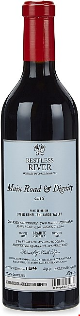Restless River Wines Main Road & Dignity Cabernet Sauvignon 2016